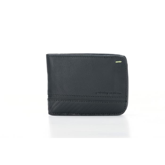 221376 - PININFARINA ΜΑΝ WALLET 8 CARDS+COIN CARBON-RFID STOP